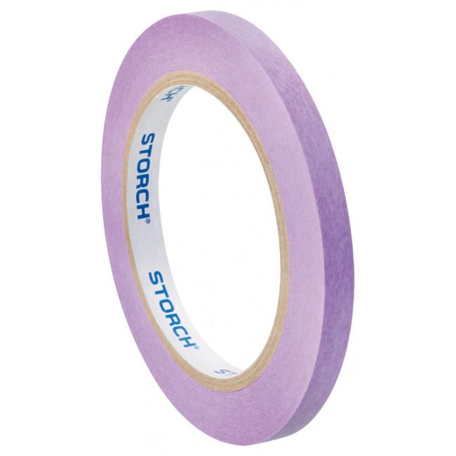 Лента малярная бумажная сверхтонкая, фиолетовая, 9mm x 50m